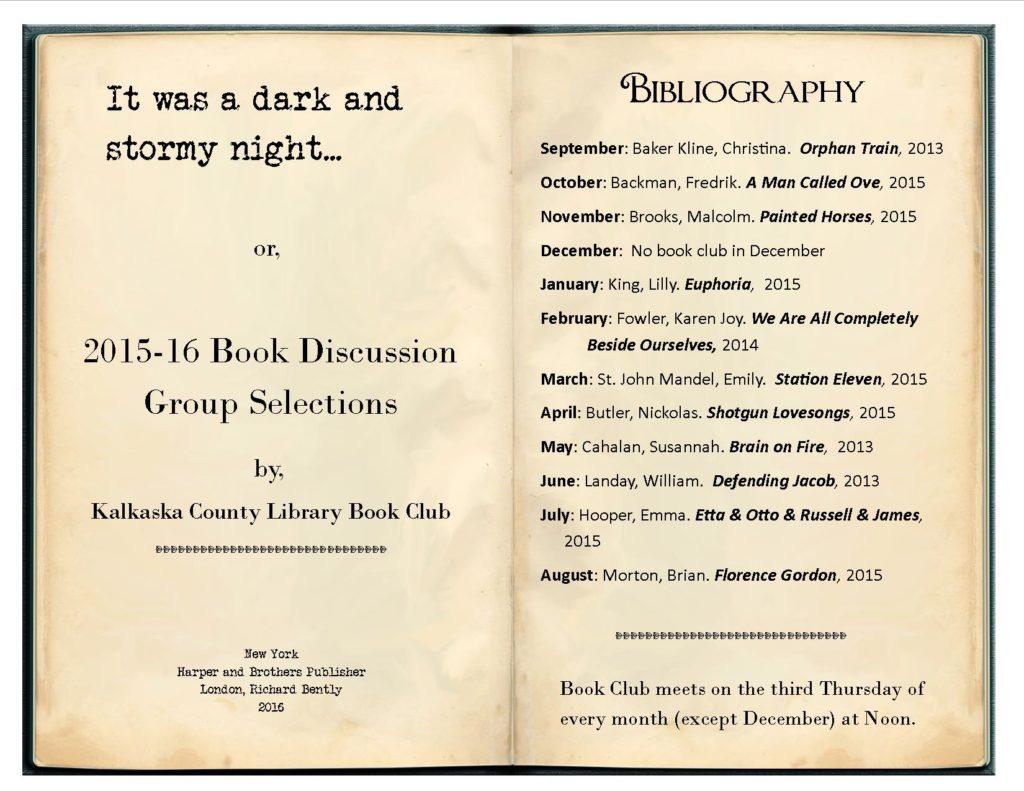 2014-15 Book Club